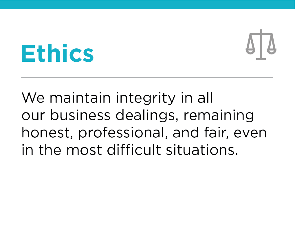 Our Values, Ethics, Crescent Petroleum